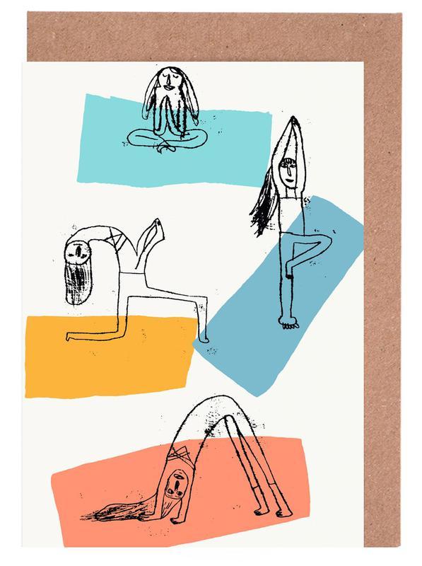 Yoga -Grußkarten-Set