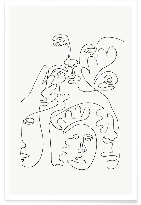 Sort & hvidt, Merging Plakat