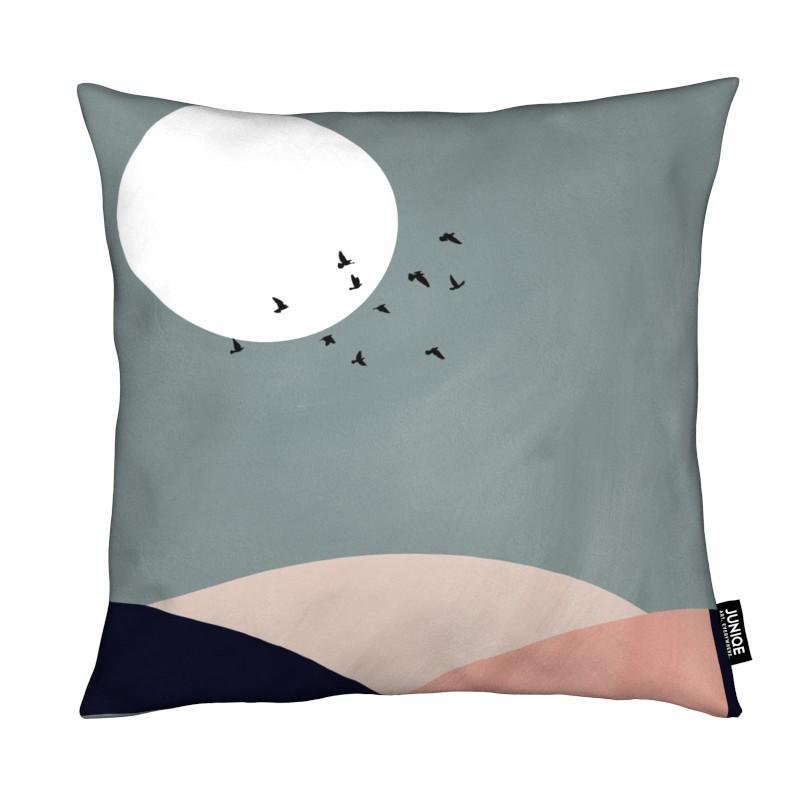 Paysages abstraits, Couchers de soleil, Montagnes, Lune, Hillscape II coussin