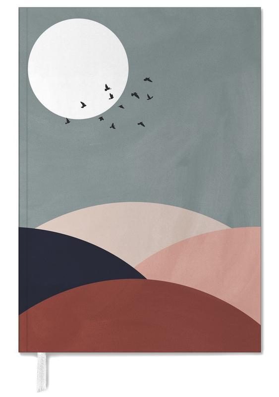 Mond, Sonnenuntergänge, Abstrakte Landschaften, Berge, Hillscape II -Terminplaner