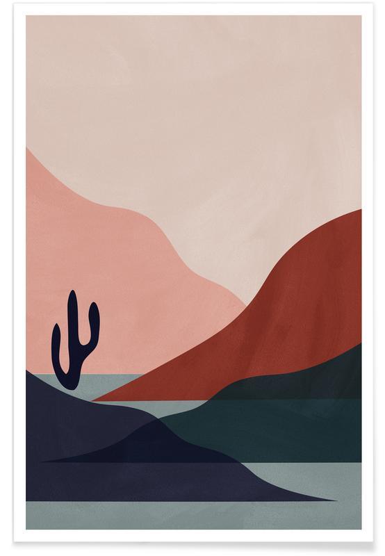 Abstrakte landskaber, Solnedgange, Ørkener, Desert Plakat