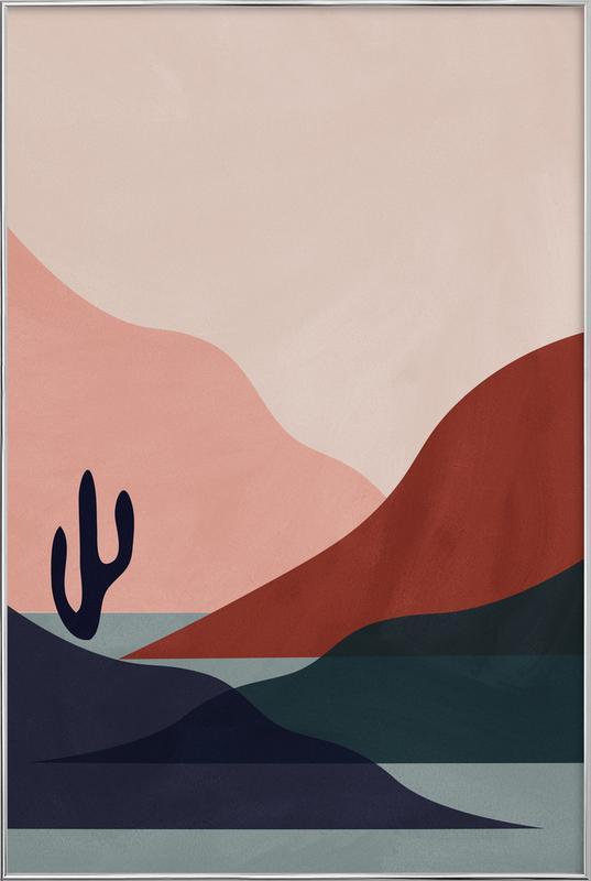 Desert affiche sous cadre en aluminium