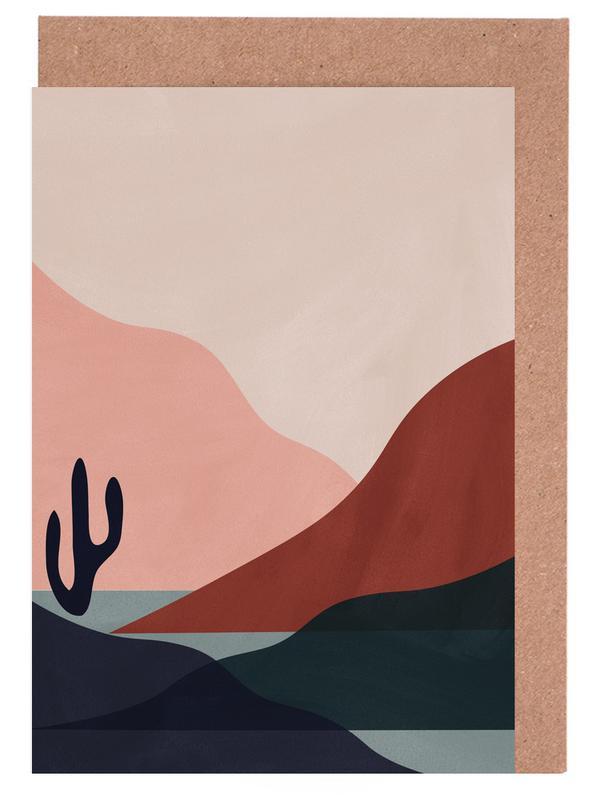 Wüsten, Abstrakte Landschaften, Sonnenuntergänge, Desert -Grußkarten-Set