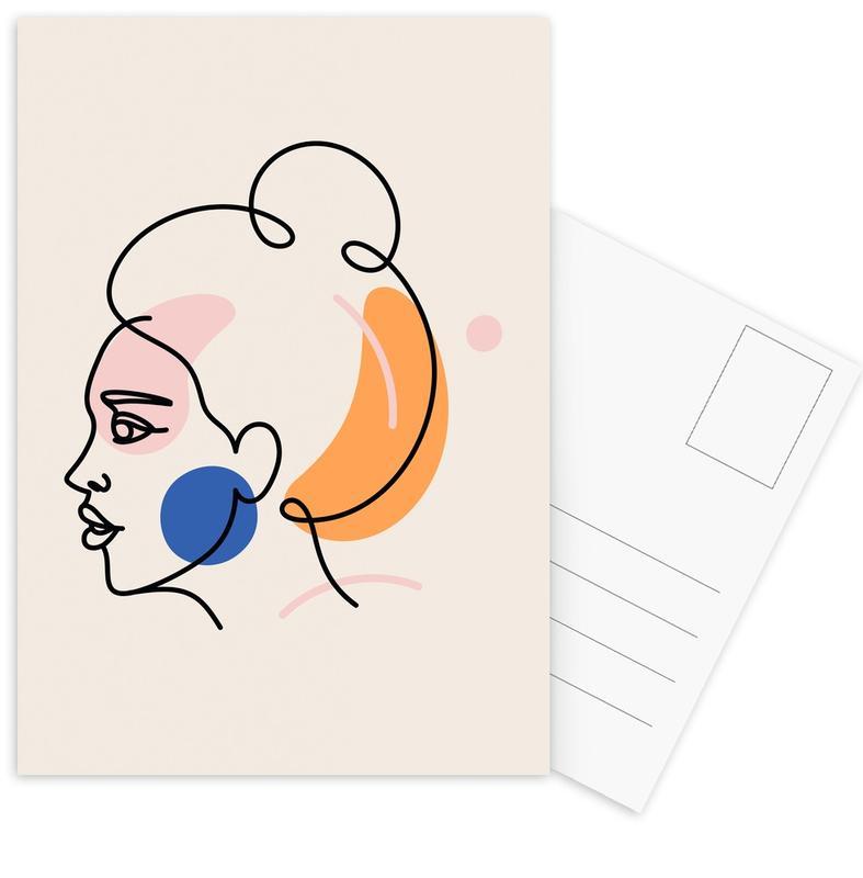 Illustrations de mode, Portraits, Pieces cartes postales