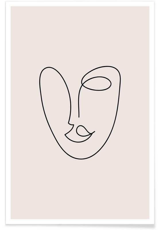 Sort & hvidt, Rosa Plakat
