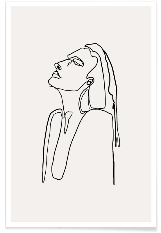 Sort & hvidt, Femme III Plakat