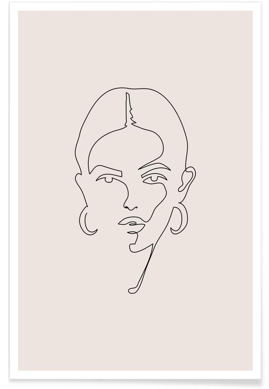Blanco y negro, Femme II póster