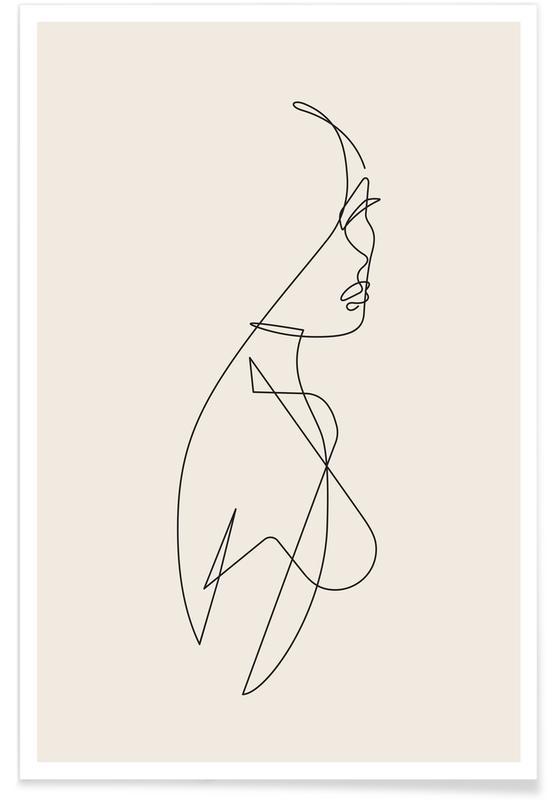 Sort & hvidt, Femme I Plakat