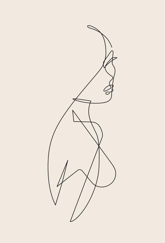 Femme I tableau en verre