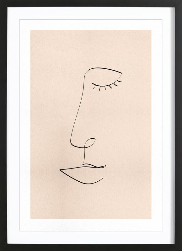 Line Portrait Poster i träram