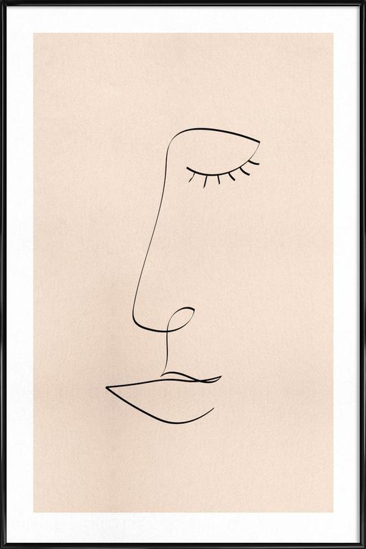 Line Portrait Framed Poster