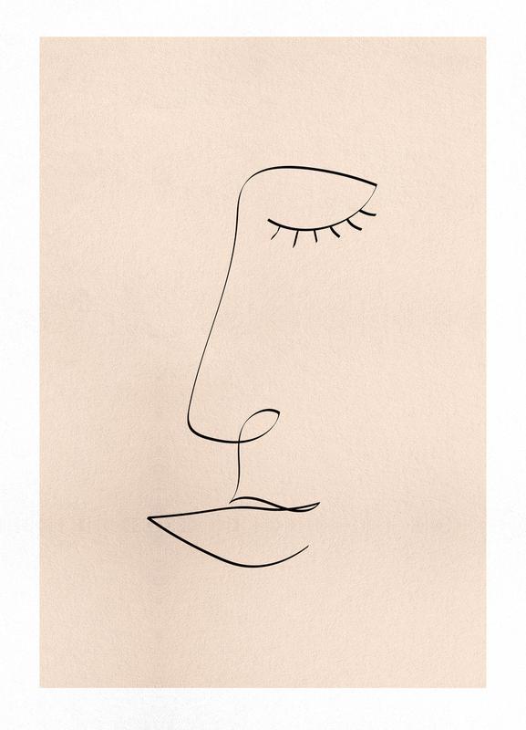 Line Portrait Canvastavla