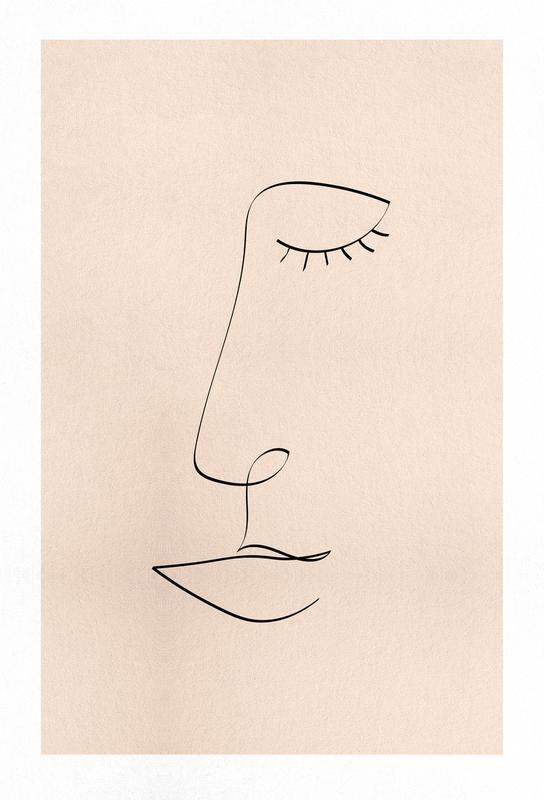 Line Portrait Akrylglastavla