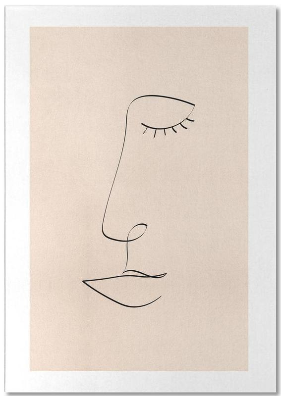 Line Portrait -Notizblock