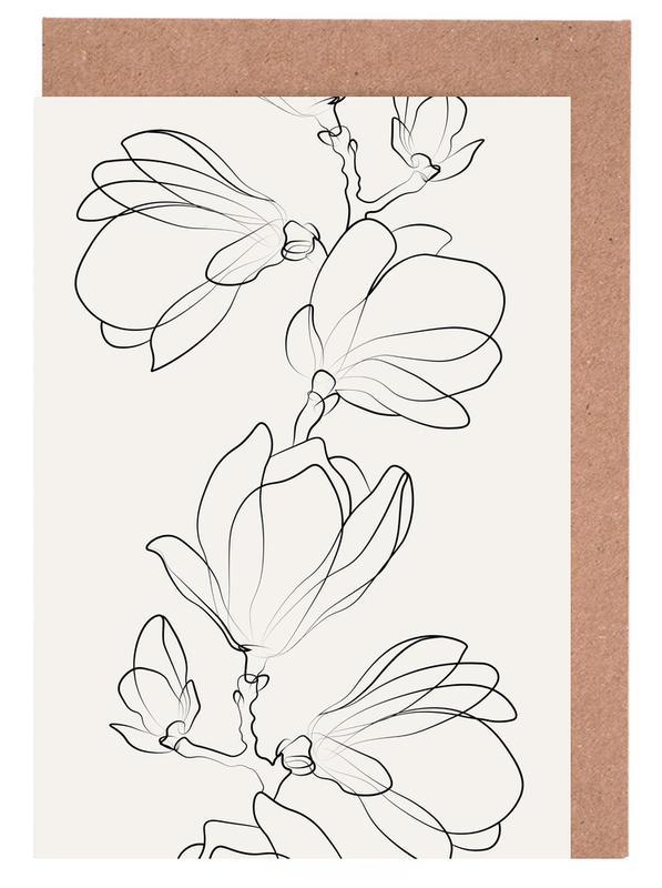 Botanic -Grußkarten-Set