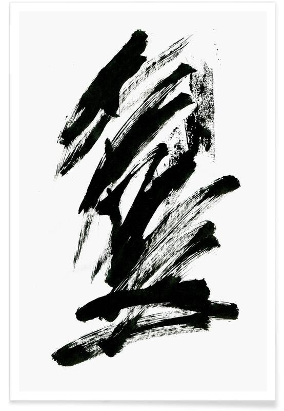 Black Abstract affiche