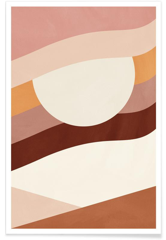 Paysages abstraits, Woven affiche