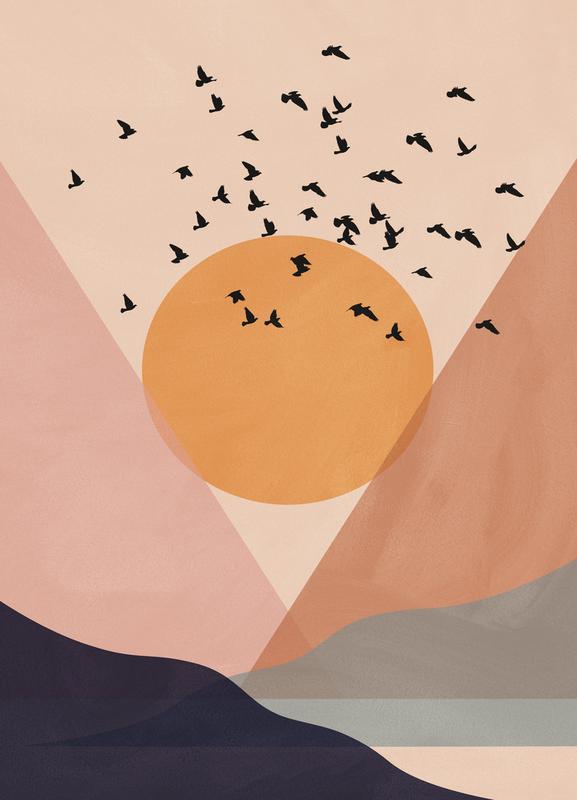 Sun Flock -Leinwandbild