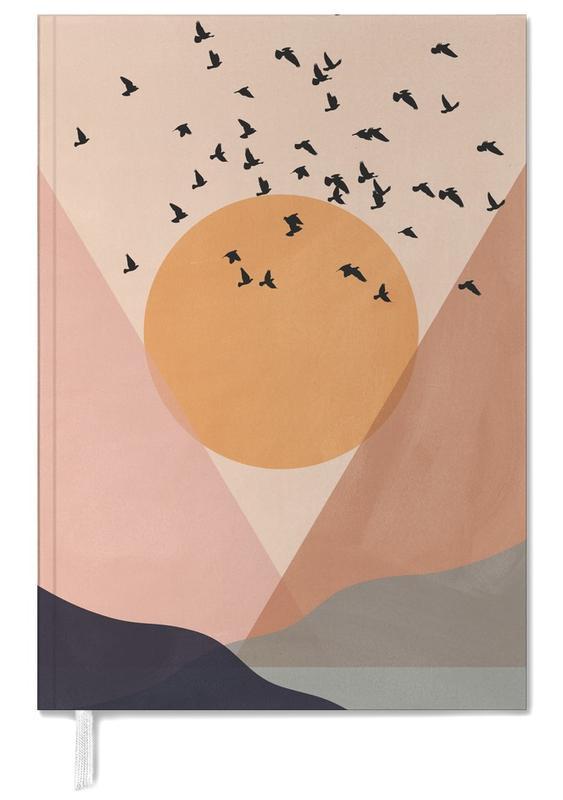 Sonnenuntergänge, Abstrakte Landschaften, Sun Flock -Terminplaner