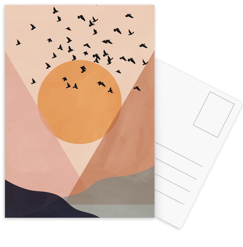Sun Flock -Postkartenset