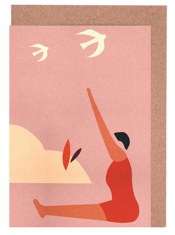 Outdoor Yoga cartes de vœux