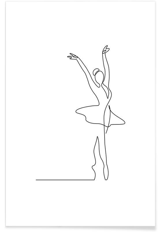 Blanco y negro, Ballet póster