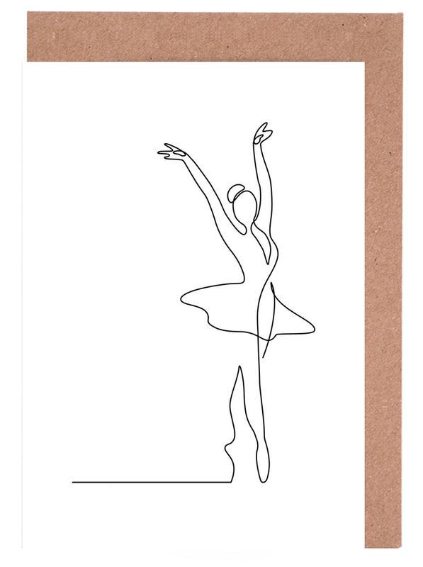 Schwarz & Weiß, Ballet -Grußkarten-Set