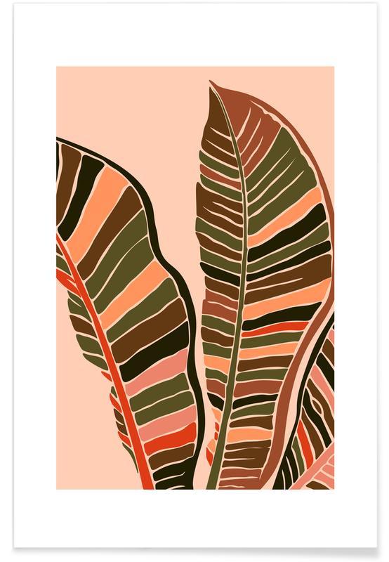 Hojas y plantas, Plant VI póster
