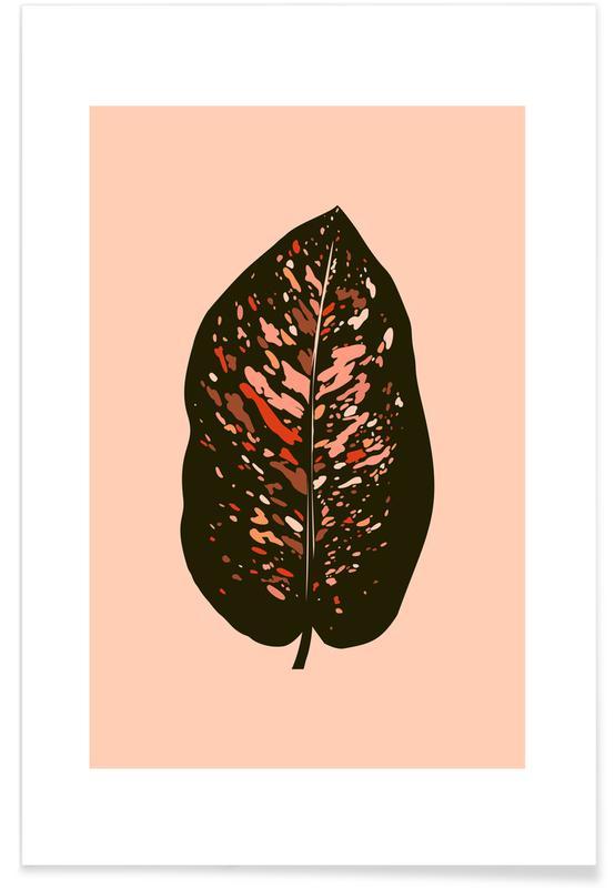 Hojas y plantas, Plant V póster