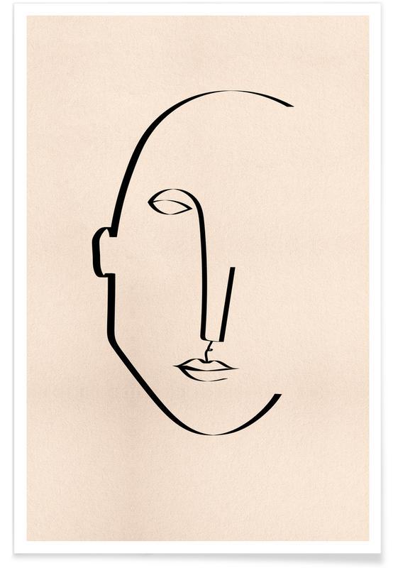 Portrætter, Abstract Portrait Plakat