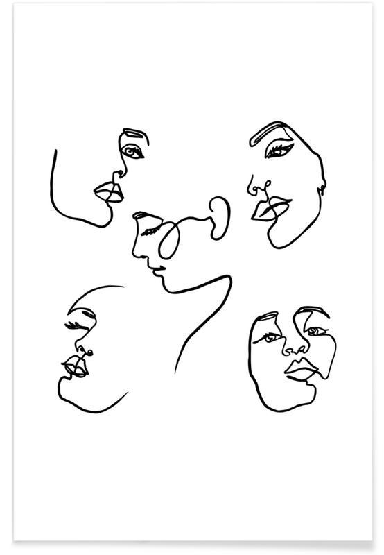 Grupper, Sort & hvidt, Angles Plakat