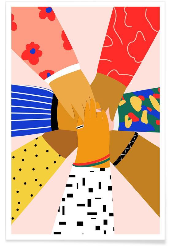 Grupper, Børneværelse & kunst for børn, All Hands Plakat