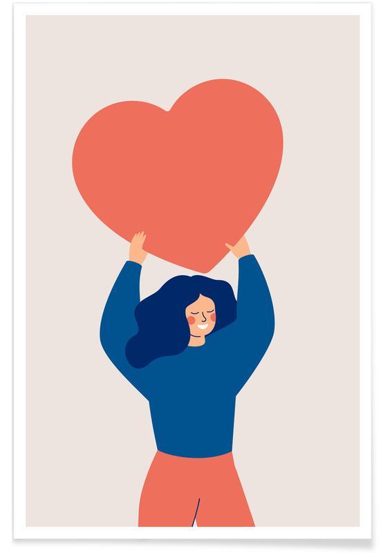 Retratos, Arte para niños, Carry Love póster