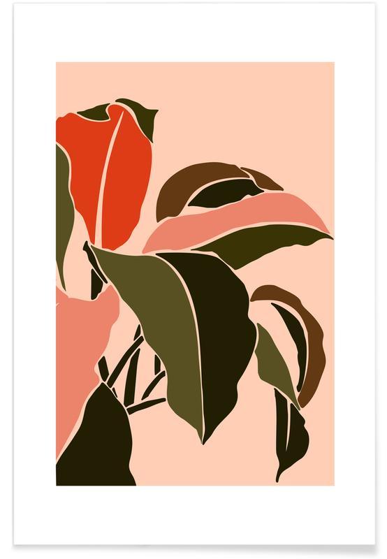 Feuilles & Plantes, Plant affiche