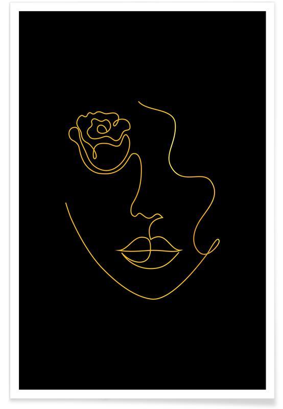 Petal-Gold -Poster