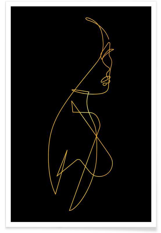 Femme I-Gold -Poster