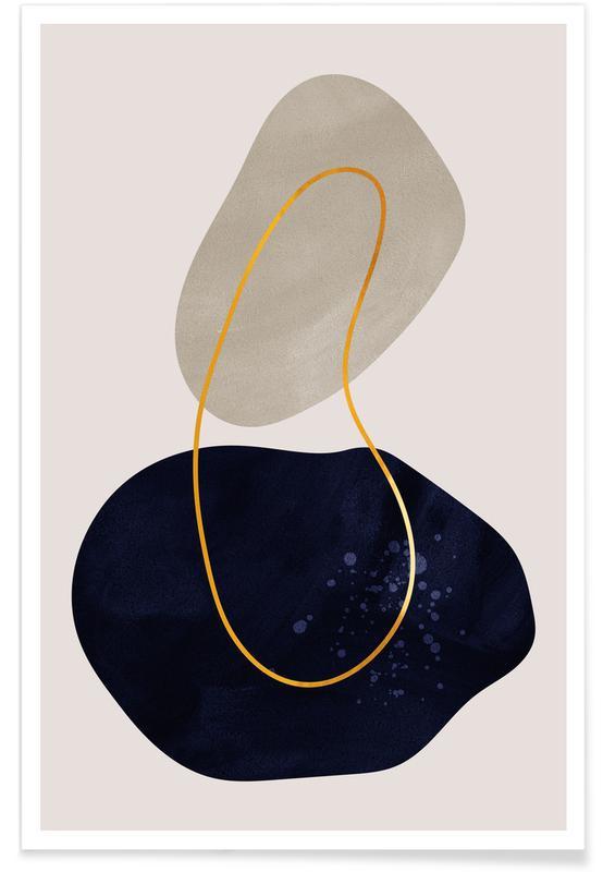 , Distance Guld Plakat