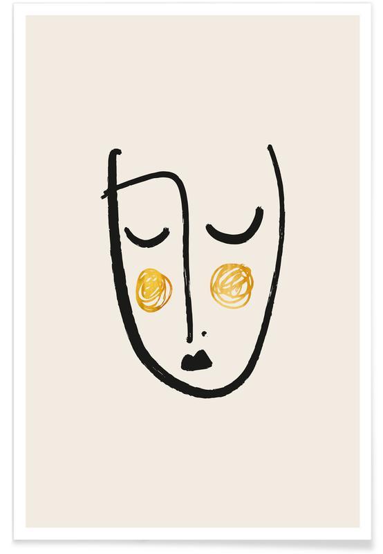 Portrætter, Blush Guld Plakat