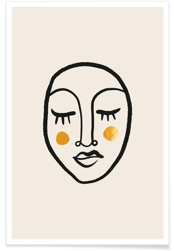 Portrætter, Blush II Guld Plakat