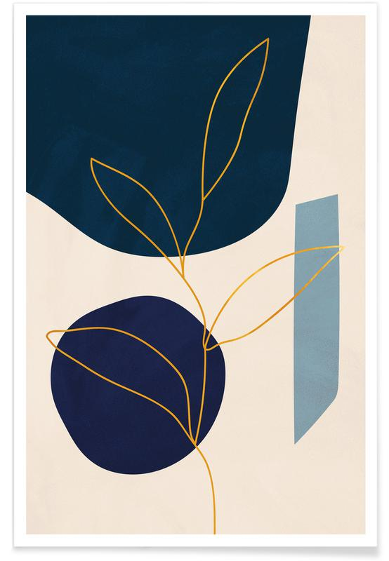 Feuilles & Plantes, Grow - Or - affiche