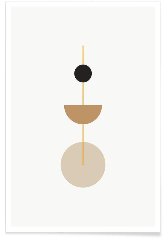Gold Pendulum Poster