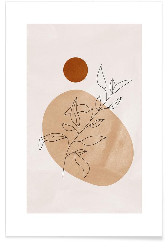 Feuilles & Plantes, Desert Reed affiche