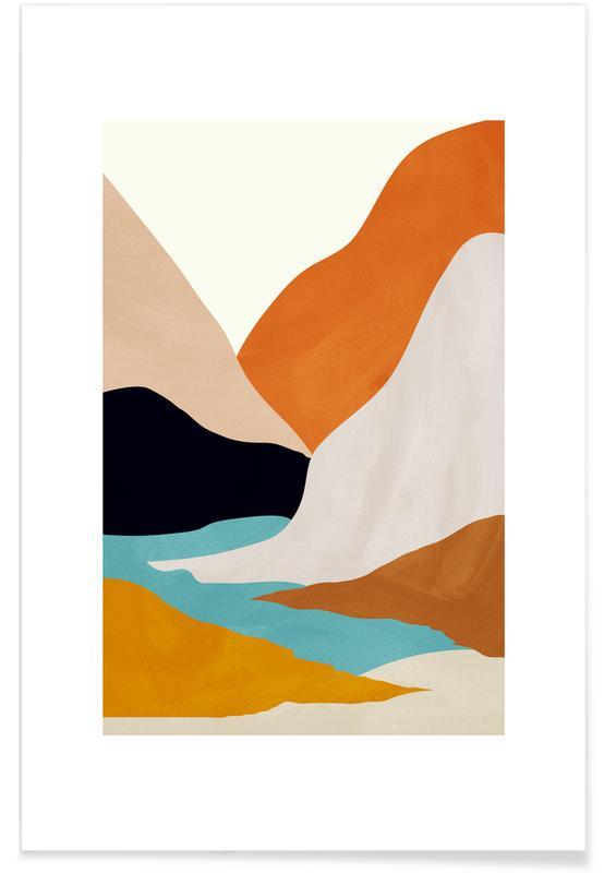 , Mountainscape affiche