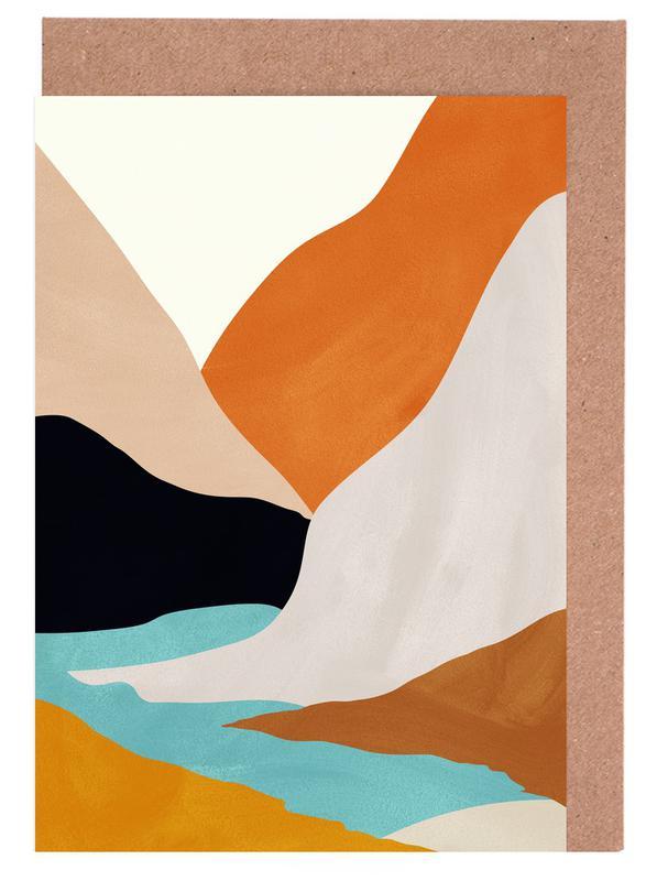 Mountainscape cartes de vœux