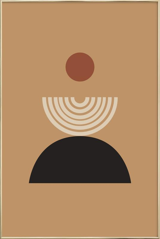 Caramel Poster in Aluminium Frame