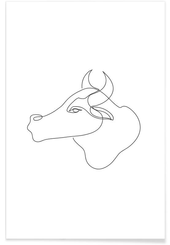 Kühe, Freehand Torro -Poster