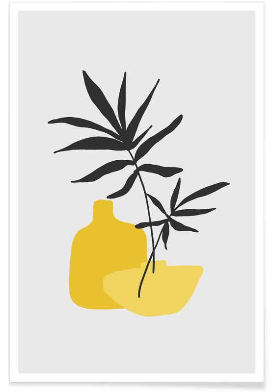 , Yellow Vases affiche