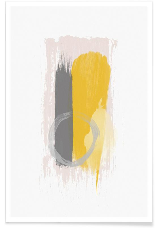 , Grey and Yellow poster