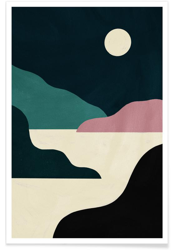 , Moonlit Outcrops poster