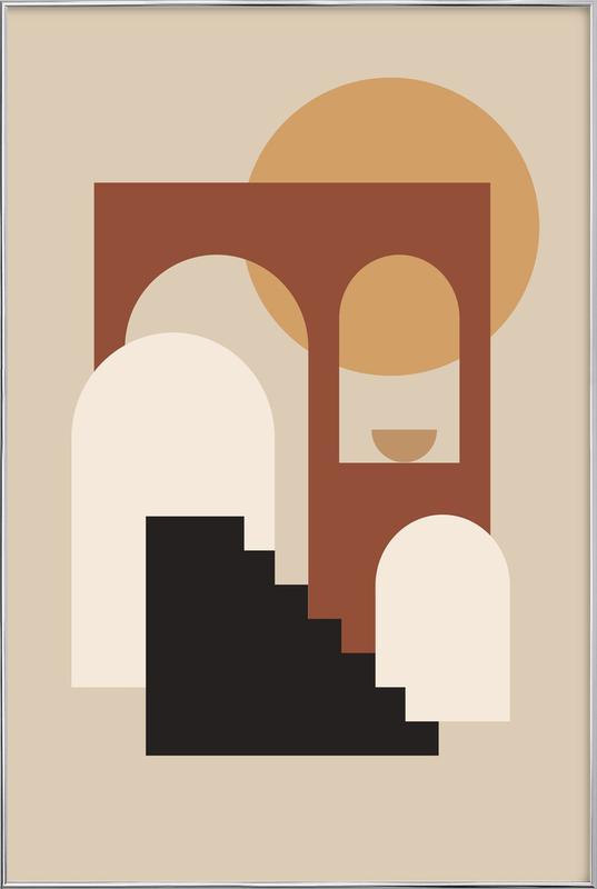 Porch -Poster im Alurahmen